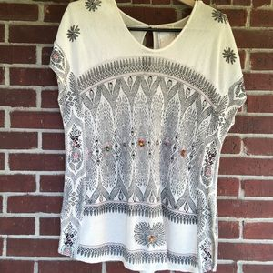 Free People New Romantic  Cream Top Size Small